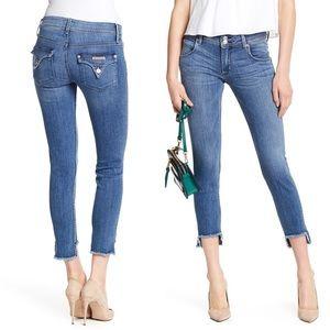Hudson Midrise CAT Skinny Step Hem Jeans 28 NWT